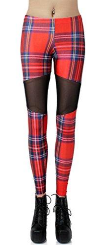 Thenice - Legging - Femme Multicolore bigarré taille unique Lattice