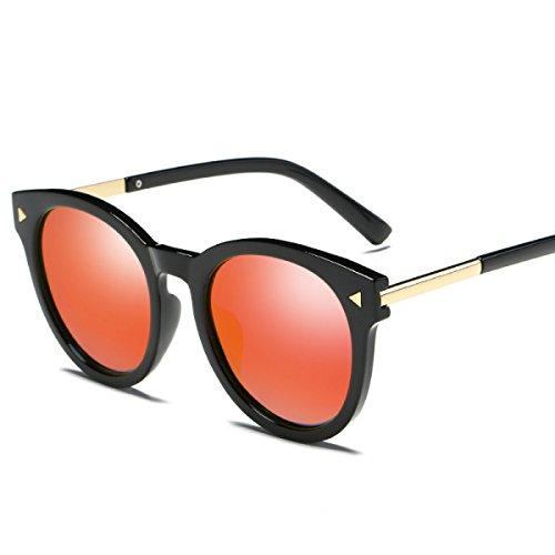 Foto de WKAIJC Gafas De Sol Modelos Masculinos Caja Redonda Polarizada Retro Moda Personalidad Comodidad Gafas De Sol Conducir Conducir Espejo,D