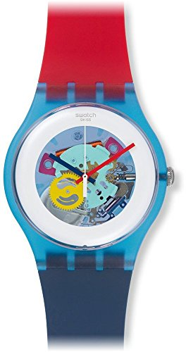 SWATCH HOMME & FEMME 42MM MULTI COLOR SILICONE BRACELET MONTRE SUOS101