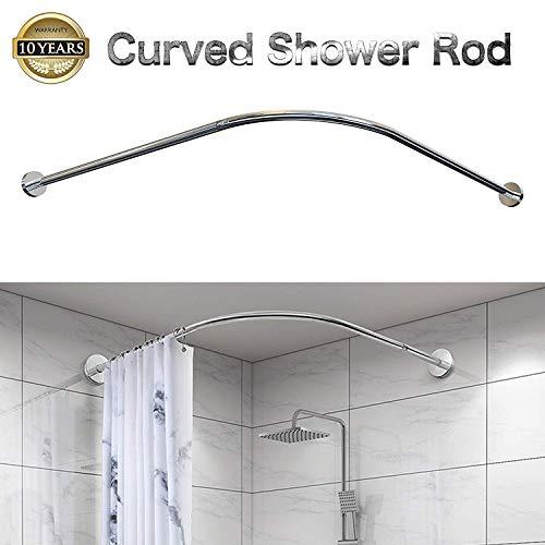 Begeri L duschvorhangstange,duschvorhangstange ohne Bohren,Teleskopstange aus Edelstahl,(75-95cm) *(90-120cm)