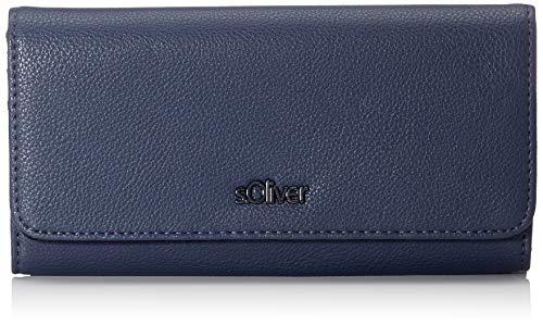 s.Oliver Damen 39.909.93.4918 Geldbörse, Blau (Blue), 2,5x9x15,5 cm