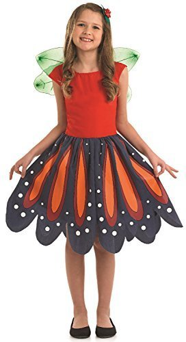 Fancy Me Mädchen Waldland Schmetterling Tier Mariposa Mini Biest TV Buch Film Welttag des buches-Tage-Woche Karneval Kostüm Kleid Outfit 4-12yrs Jahre - 10-12 Years Mariposa Tiere