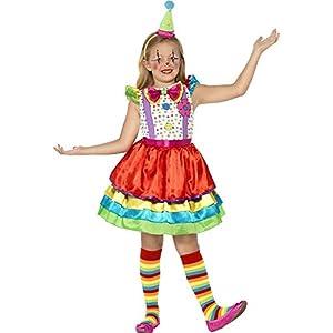 Smiffys-45250S Traje de Chica Bufón de Lujo, Con Vestido y Sombrero, Color ninguna, S - Edad 4-6 años (Smiffy