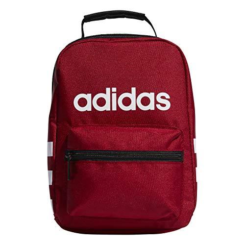 adidas Unisex-Erwachsene Santiago Lunch Bag Tasche Active Maroon/Black/White Einheitsgröße Adidas Sling