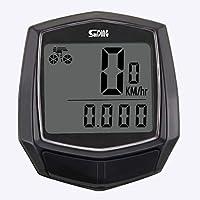 Marasala Cuentakilómetros para Bicicleta inalámbrico Impermeable con retroiluminación Gran Pantalla LCD de HD de Pantalla Auto Despierta Muti-Funcion para Bicicleta Velocímetro ⭐⭐⭐⭐⭐