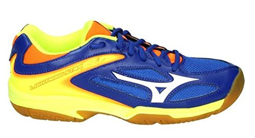 Mizuno Scarpe Pallavolo Bambino Lightning Star Z3 Jr SurftheWeb/White/Orange (EU 32.5)