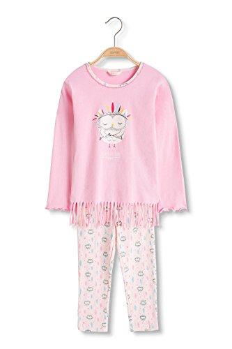 Esprit Kids Mädchen Zweiteiliger Schlafanzug Hazel MG Pyjama 1/1, Rosa (Light Pink 690), 128 (Herstellergröße: 128/134)