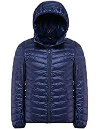YOUJIA Chalecos exteriores - Hombre Chaqueta de pluma - Planicie Ligero Cálido Abrigo de Invierno