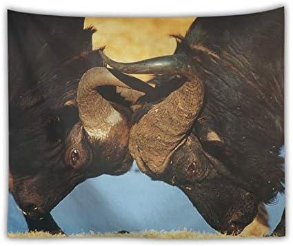 XIAOBAOZIGT Tappezzeria Stampa Digitale 3D Appeso Asciugamano A Parete Toro Asciugamano Appeso Grande Scialle da Spiaggia Camera da Letto Soggiorno Decorazione Camera da Letto per Bambini 150×200Cm 125356