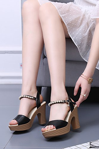 ebe7844d352668 LGK FA Summer Women S Sandals Thick Heel Waterproof Table High ...