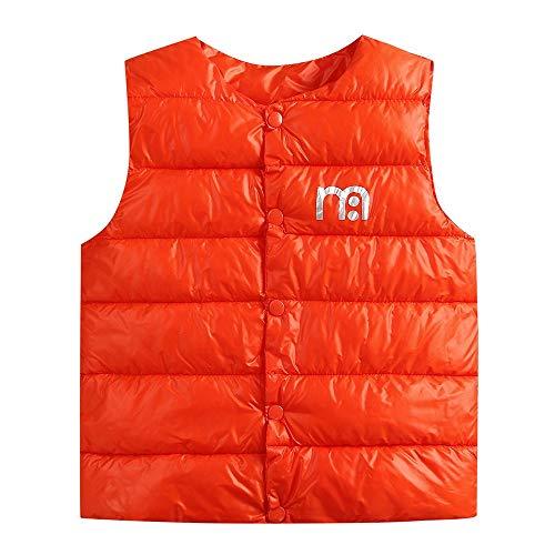 Jamicy Kinder Mantel, Kinder Kinder Baby Mädchen Jungen Sleeveless Animal Print warme Jacke Weste Tops (Orange, 5 Jahre alt)