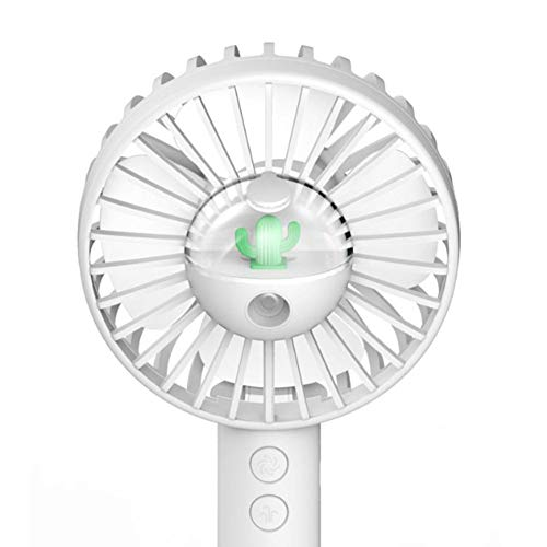 TUANMEIFADONGJI Portable Spray Fan Essential Oil Diffuser Multifunction Cactus Humidifier Handheld USB Small Fan for Travel Office 10mL - Fan-spray