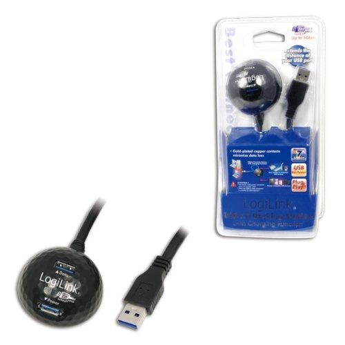 LogiLink CU0035 USB Kabel, USB 3.0 mit Docking Station, 1,50m