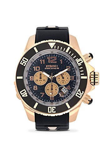 KYBOE! CHRONO ROSE BLACK KYCRG.48-001.15 Mens Chronograph LED Watch