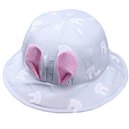 CGXBZA Frühling Sommer Baby Mädchen Sonnenhut Mit Bunny Ohr Kinder Eimer Hüte Niedlichen Baumwolle Baby Hut Kinder Strand Cap Für Jungen Sonnenhut -