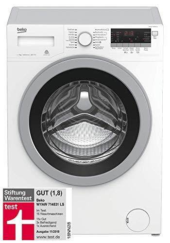 Beko WYAW 714831 LS Waschmaschine Frontlader / A+++ / 1400 UpM / Selbstreinigung / Watersafe+ / Mengenautomatik / 16 Programme