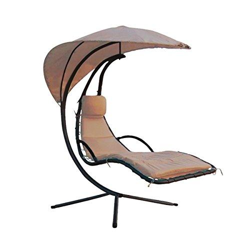 Goods & Gadgets Swinging Sun Lounger - Tan