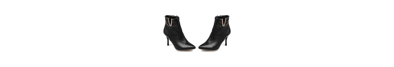 ZQ@QXSugerencia de la semana para la multa con tacones altos y elegante y versátil, botas cortas de un gran número... -