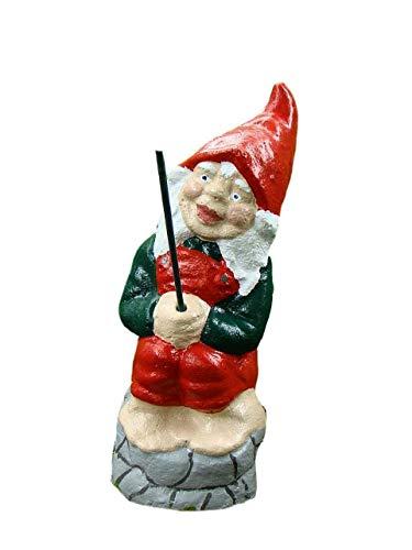 Angeln Gnome ~ Dach ~ Angeln sitzend auf Rand des Wand