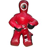 Bestzo MMA Jiu Jitsu Judo Grappling Dummy Synthetic Leather Red Sitting position -Unfilled-70 inches