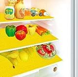 Kuber Industries PVC 6 Piece Refrigerator Drawer Mat Set - Yellow
