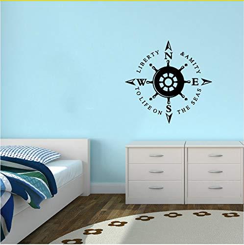 Ljtao Wandtattoo Vinyl Aufkleber Symbol Kompass Liberty Anchor Nautical Stanzformen Home Decor Wandbild -
