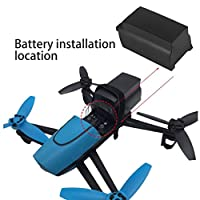 GGkdalio 2500mAh 11.1V 10C Continuous Discharge Large Capacity Lipo Battery Drone Backup Replacement Battery For Parrot Bebop Drone 3.0(Color:black)