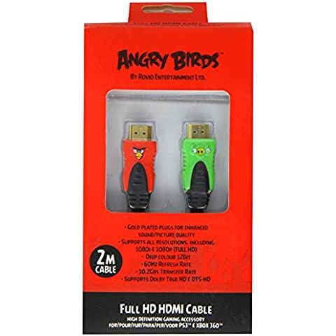 GameOn Angry Birds - Cable HDMI para Xbox 360/PS3