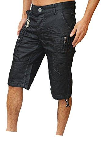Eto -  Pantaloncini  - cargo - Uomo Nero