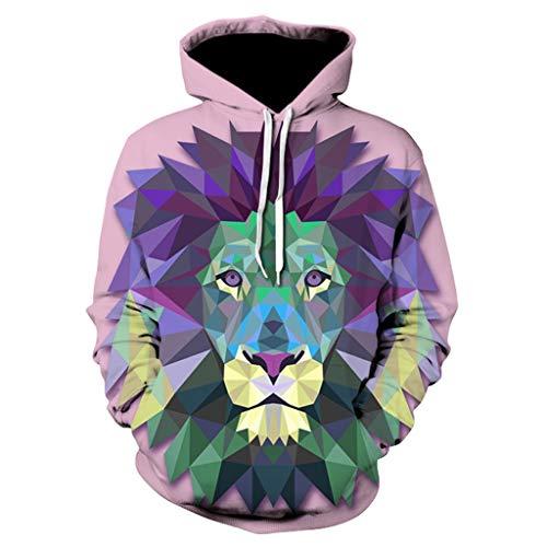 ◆Elecenty◆ Unisex 3D Graphic Print Realistic Casual Long Sleeve Hoodie Pullover Sweatshirt Cartoon Drucken Hoodies Langarmpullover Langarmshirt -
