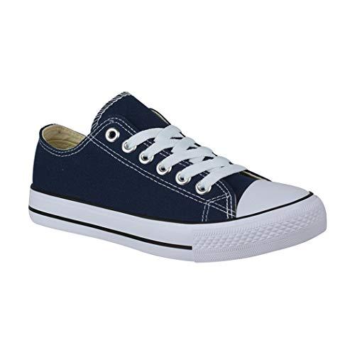 Elara Unisex Sneaker Low top Turnschuh Textil Chunkyrayan 36-46 A-YD3230-Blau-42