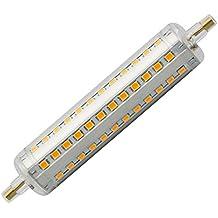 Intensidad regulable R7S LED 118mm 10W luz blanca cálida 2700K ac85–265V