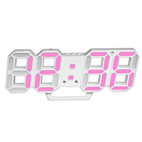 3D LED de Alarma del Reloj electrónico Luminoso Digital USB Reloj de Pared de energía Dígitos Muy Visible Regard