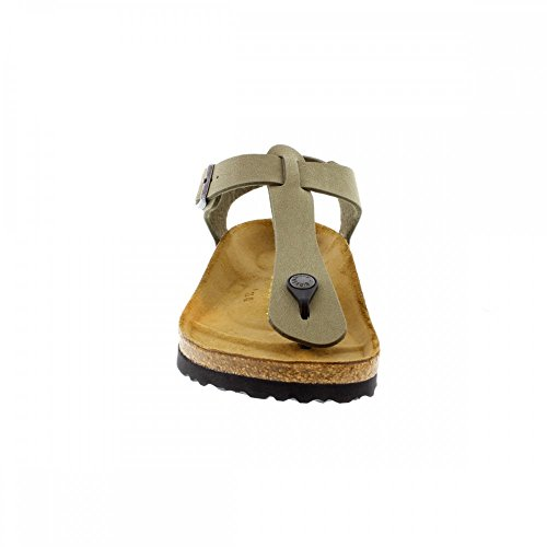 Birkenstock Classic Kairo Birko-Flor Damen Knöchelriemchen Sandalen Beige