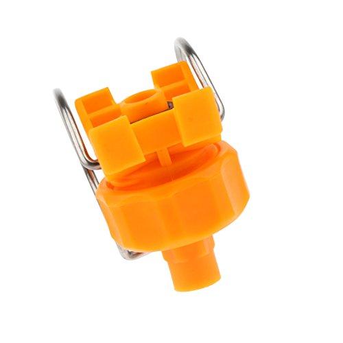 F Fityle Volle Kegel Klipp Düse einstellbare Spritzdüse Klipp-Öse Sprühdüse Waschen Düse PP Kunststoff für Chemisches Spritzen, Metallreinigung - Gelb 0,75
