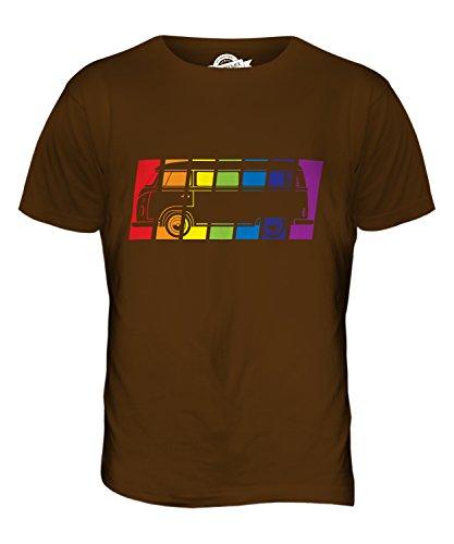 CandyMix Wohnmobil Regenbogen Herren T Shirt Braun