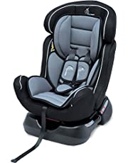 R for Rabbit Convertible Baby Car Seat Jack N Jill Grand Innovative ECE R44/04 Safety Certified Car Seat for Kids of 0 to 7 Years Age with 3 Recline Position (Black Grey)