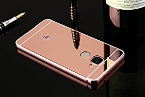 Mobiccessories Luxury Metal Bumper Acrylic Mirror Back Cover Case For Le Eco 2 Letv Le 2 Pro- Rose Gold + Free Scratch Guard