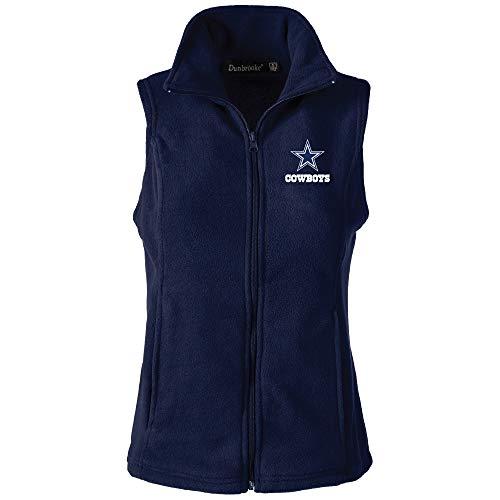 L Dallas Cowboys Houston Damen Fleece-Weste, Marineblau, Größe S ()