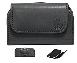 Jo Jo A4 Nillofer Belt Case Mobile Leather Carry Pouch Holder Cover Clip For QiKU F4  Black