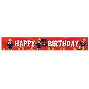 Fireman Sam Birthday Party Banner
