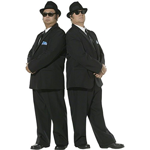 NET TOYS Blues Brother Kostüm Starkostüm Schwarz L 52/54 Blues Brother Outfit Filmkostüm Star (Brothers Kostüme)