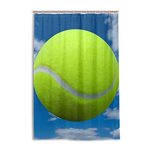 XiangHeFu Duschvorhang mit Haken, 121,9 x 182,9 cm, Sport Tennis Ball Sky Wolke (wasserdicht und schimmelresistent, 100%) für Damen und Herren Badezimmer