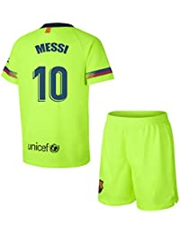 Barcelona Conjunto Camiseta y pantalón 2ª equipación 2018-2019 - Replica con  Licencia - Dorsal 10 Messi - Niño Talla 4 - Medidas Pecho… 57783249ba6