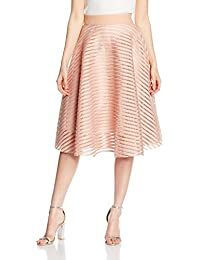 New Look Damen Rock Self Stripe Midi