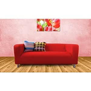 ikea klippan 2 sitz sofa ersatz schutzbezug rot. Black Bedroom Furniture Sets. Home Design Ideas