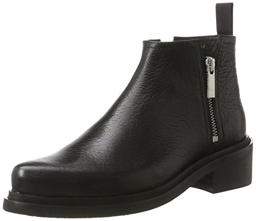 Shoe Biz Damen Zip Boot Kurzschaft Stiefel, Schwarz (Aragon Black), 39 EU (Boot Pointy Toe)