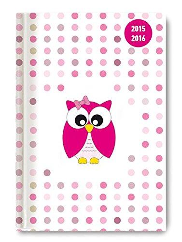 Collegetimer Pink Owl 2015/2016 - Schülerkalender A5 - Day By Day - 352 Seiten