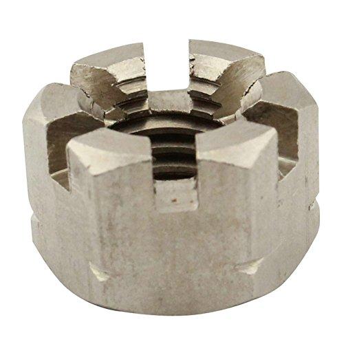 Kronenmuttern - M10 - ( 2 Stück ) - DIN 935 / ISO 7036 - rostfreier Edelstahl A2 (V2A) / NIRO - SC935 | SC-Normteile