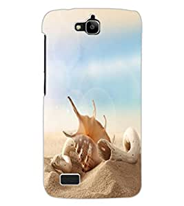 ColourCraft Shell Design Back Case Cover for HUAWEI HONOR HOLLY